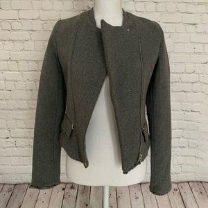 Jackets & Blazers - Tweed Moto Jacket S